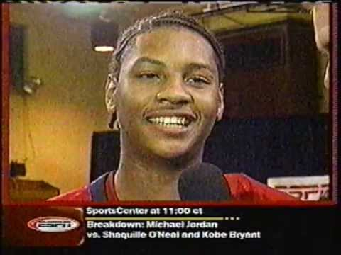 Carmelo Anthony - 2002 High School Dunk Contest (McDonald's All ... Carmelo Anthony 2002