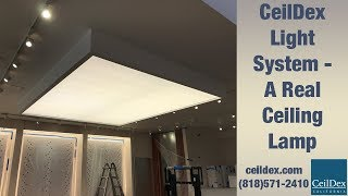 A ceiling lamp?? You have to see this crazy technology! LED light box installation process