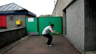 Pushing The Senses Bailey Alcock Parkour free running to girls one cup conwy north wales swing