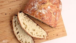 No-Knead Rustic Bread Recipe - Laura Vitale - Laura in the Kitchen Episode 1025