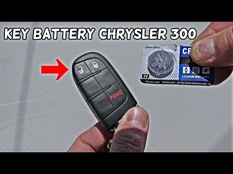 HOW TO REPLACE KEY FOB BATTERY ON CHRYSLER 300 2011 2012 2013 2014 2015 2016 2017 2018 2019