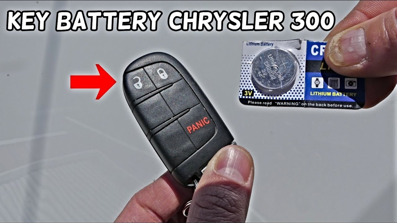 How To Replace Key Fob Battery On Chrysler 300 2011 2012
