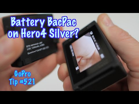 Can GoPro Hero4 Silver Use Battery BacPac? GoPro Tip #521