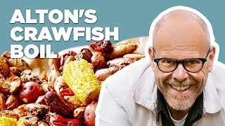 Alton Brown Makes a Crawfish Boil | Food Network