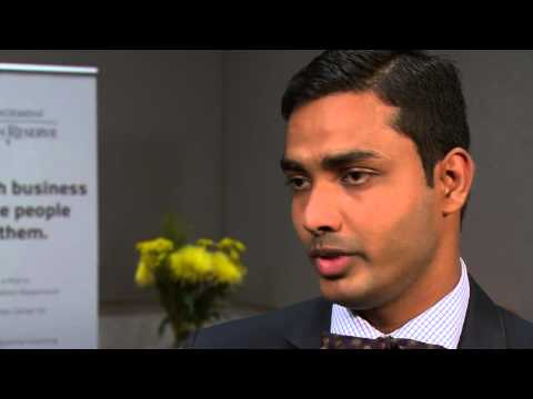 Full-Time MBA Student Jagadish Kumar Anandamurthy at the Weatherhead School of Management