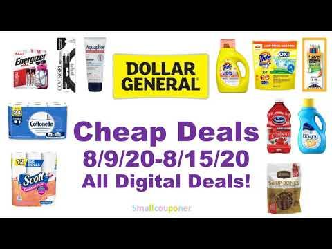 Dollar General Cheap Deals 8/9/20-8/15/20! All Digital Deals!