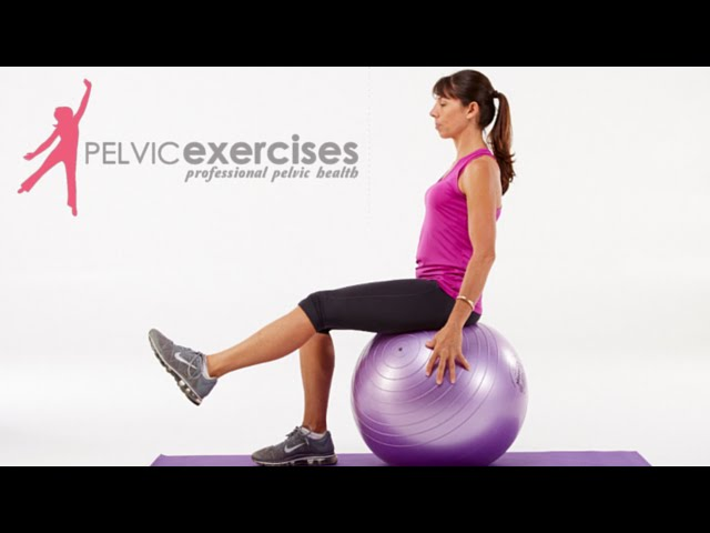 3 Pelvic Floor Safe Core Stability Ball Exercises For Women Youtube