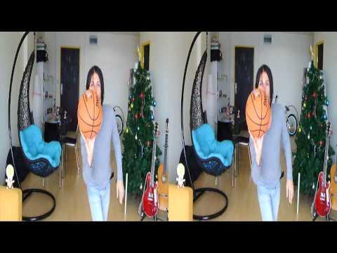 3D movie anaglyph stereoscopic red cyan blue       yt3d:enable=true (Fujifilm Fuji 3D W3 camera)