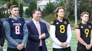 Minute with Mayor Blake Milford s Thanksgiving Football Showdown