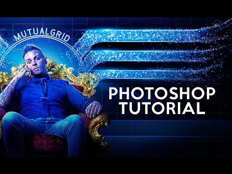 Royal Blue Glittering Composite Photoshop Tutorial - MutualGrid
