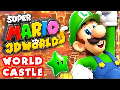 Super Mario 3D World - World Castle 100% (Nintendo Wii U Gameplay Walkthrough)