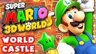 Repeat youtube video Super Mario 3D World - World Castle 100% (Nintendo Wii U Gameplay Walkthrough)