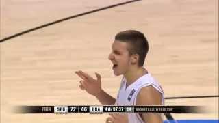 Serbia Vs Brazil - Bogdan Bogdanovic 3 points (FIBA 2014)
