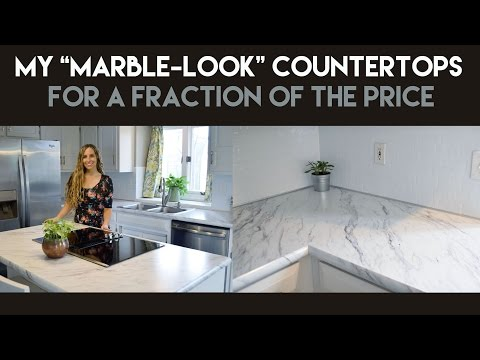 My Marble-Look Countertops for a Fraction of the Price