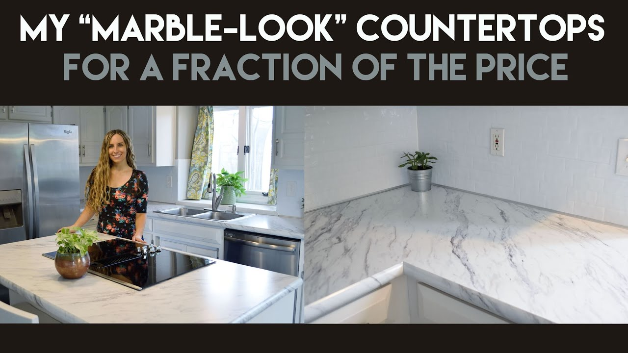 home depot kitchen remodel and bath my marble-look countertops for a fraction of the price ...