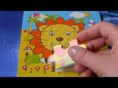 Toys For Kids. Mini Puzzle With Lion. Video For Children