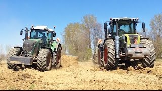 GROUND LEVELLING Claas Xerion 3800 Trac Vc + Fendt 939