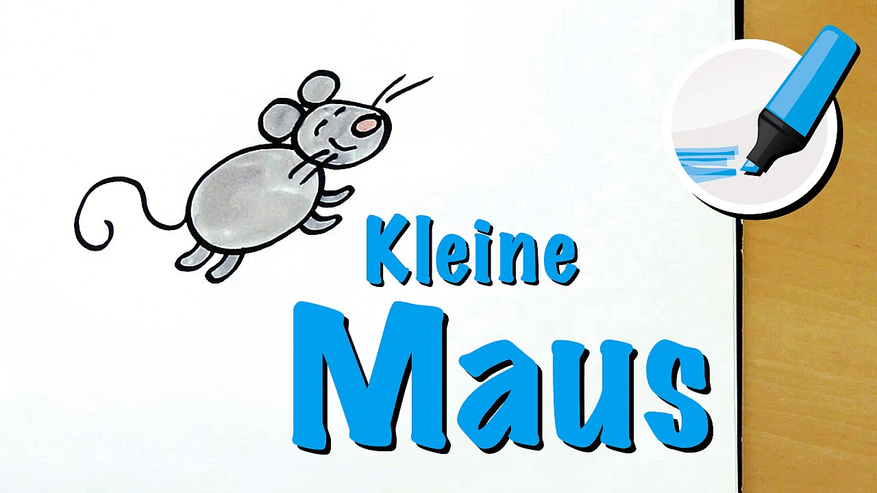 Maus Zeichnen Lernen So Goldig How To Draw A Mouse Cartoon