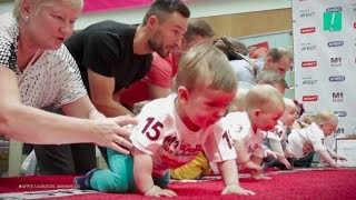 Adorable Babies Face Off In Epic Crawling Race