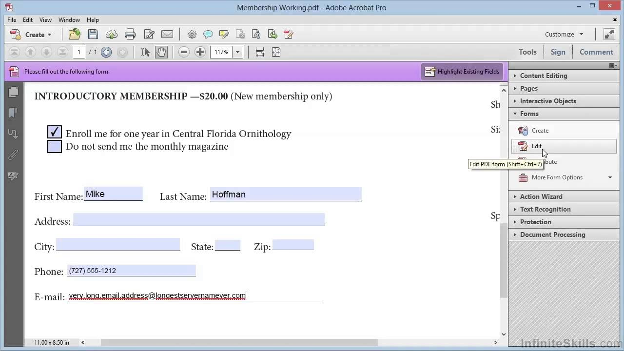 Adobe Acrobat Xi Creating Forms Tutorial Creating A Barcode