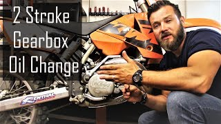 How to change gearbox oil on 2 stroke dirt bike - KTM 250 SX