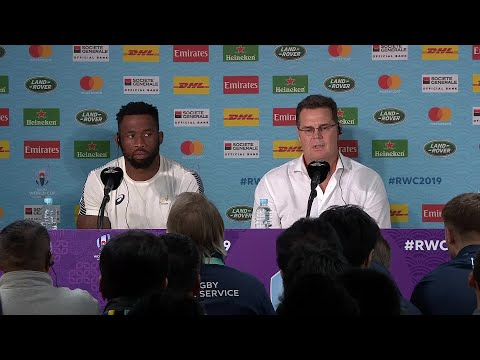 Erasmus and Kolisi speak after securing place in Rugby World Cup final