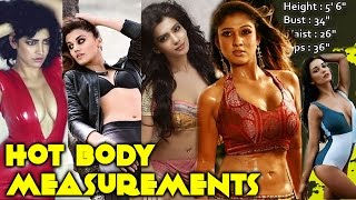 Repeat youtube video Actress Hot Body Measurements | Which One Is For You? | Tamanna Bhatia, Kajal Agarwal | South Indian