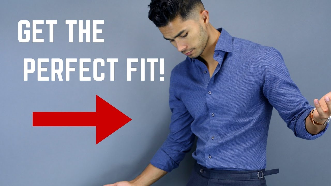 13672ed7 How A Dress Shirt SHOULD Properly Fit - YouTube