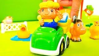 Видео для детей - Животные на ферме - Игрушки для малышей