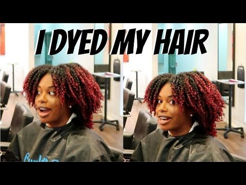I DYED AND CUT MY NATURAL HAIR + MY SALON HAIR EXPERIENCE