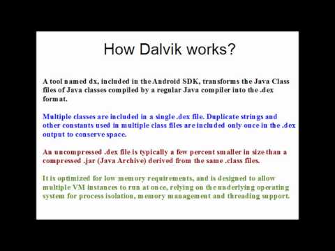 Android in 60 Seconds   Dalvik