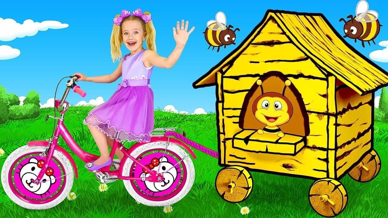 स्लाव एक गैरेज बिक्री खेलते हैं और मधुमक्खियों के बारे में सीखते हैं   बच्चों के लिए रोकें चुनौती