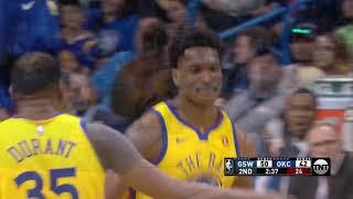 Golden State Warriors Dunks vs Oklahoma City Thunder / April 3 / 2017-18 NBA Season