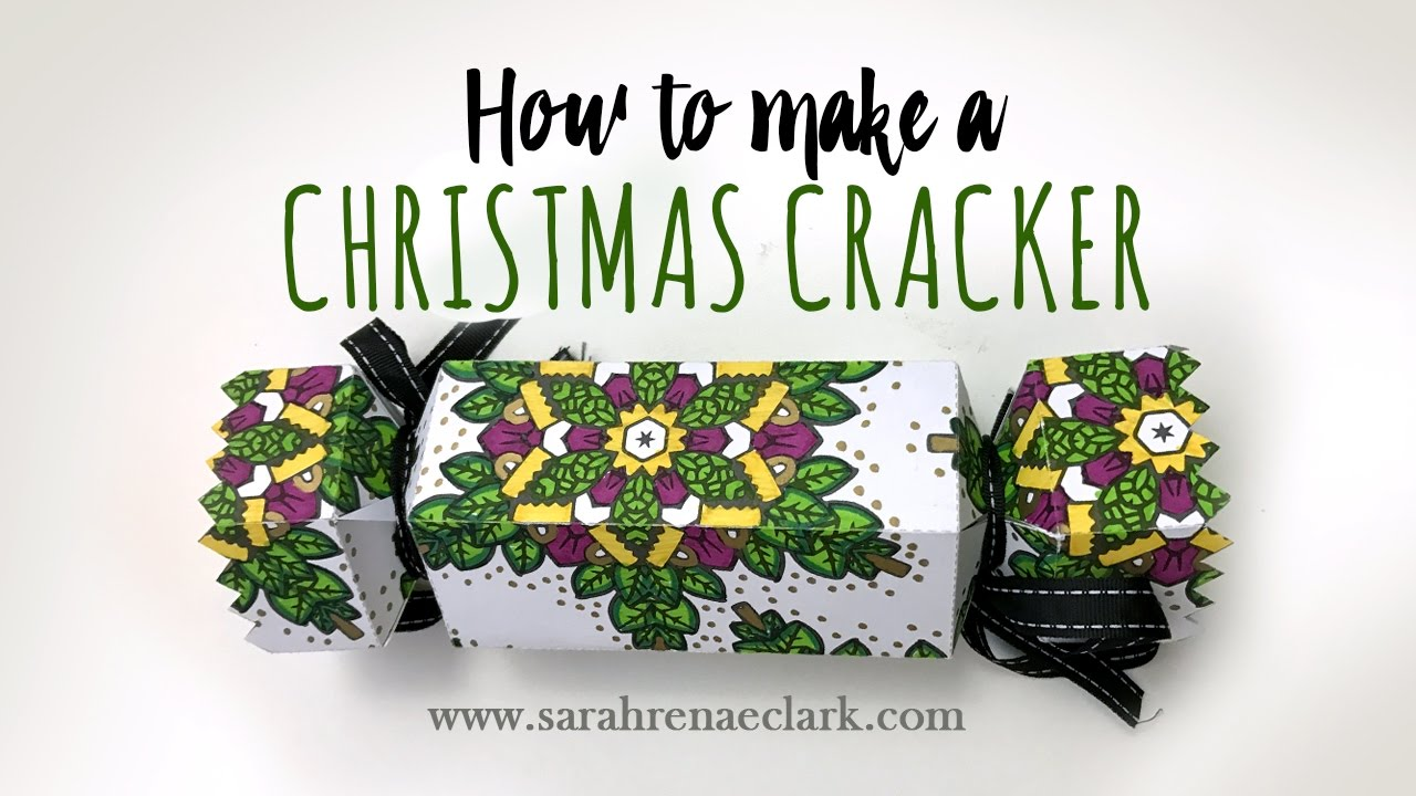 Christmas Cracker Template.How To Make A Christmas Cracker Tutorial And Free Template