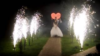 10 фонтанов и пиро сердце на свадьбу от шоу-проекта