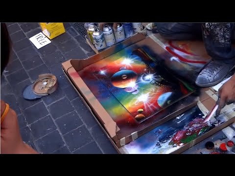 Amazing Street Artist - Amazing Street Art Painting - Spray Paint Art