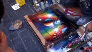 Amazing Street Art Painting - Amazing Street Artist - Spray Paint Art (Part 1)
