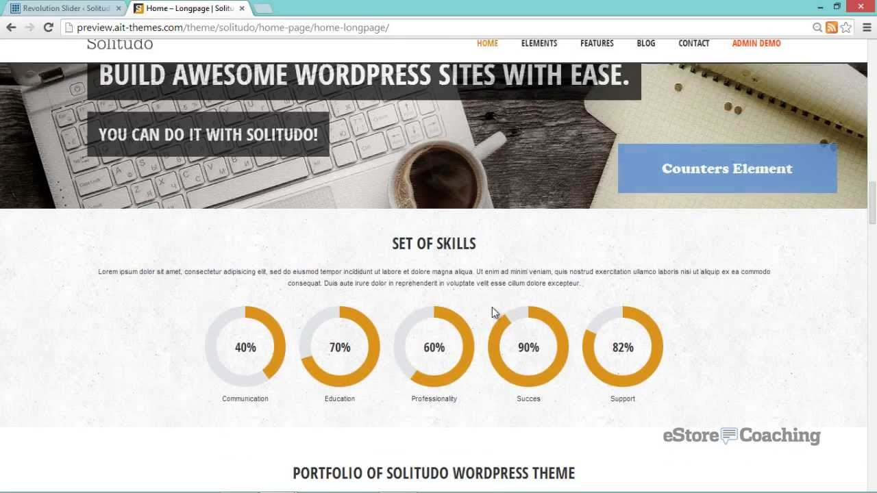 Best All Around WP Theme - Solitudo by AIT Themes   eStore Coaching