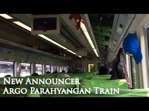 New Announcer On Argo Parahyangan Train