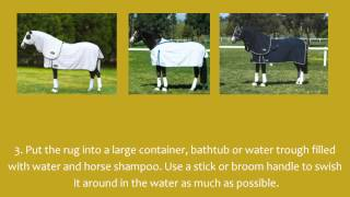 How to Wash a Horse Rug