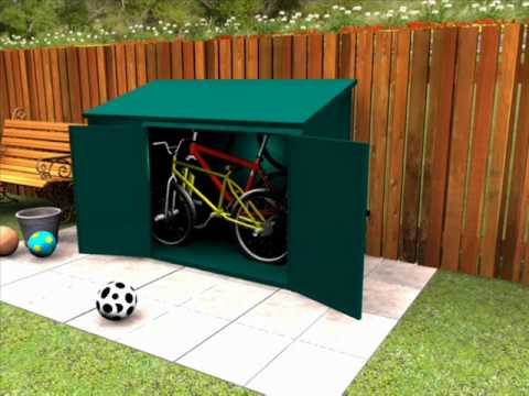 High Security Bike Storage   Check Out This Stylish Bicycle Storage For  Your Garden   YouTube