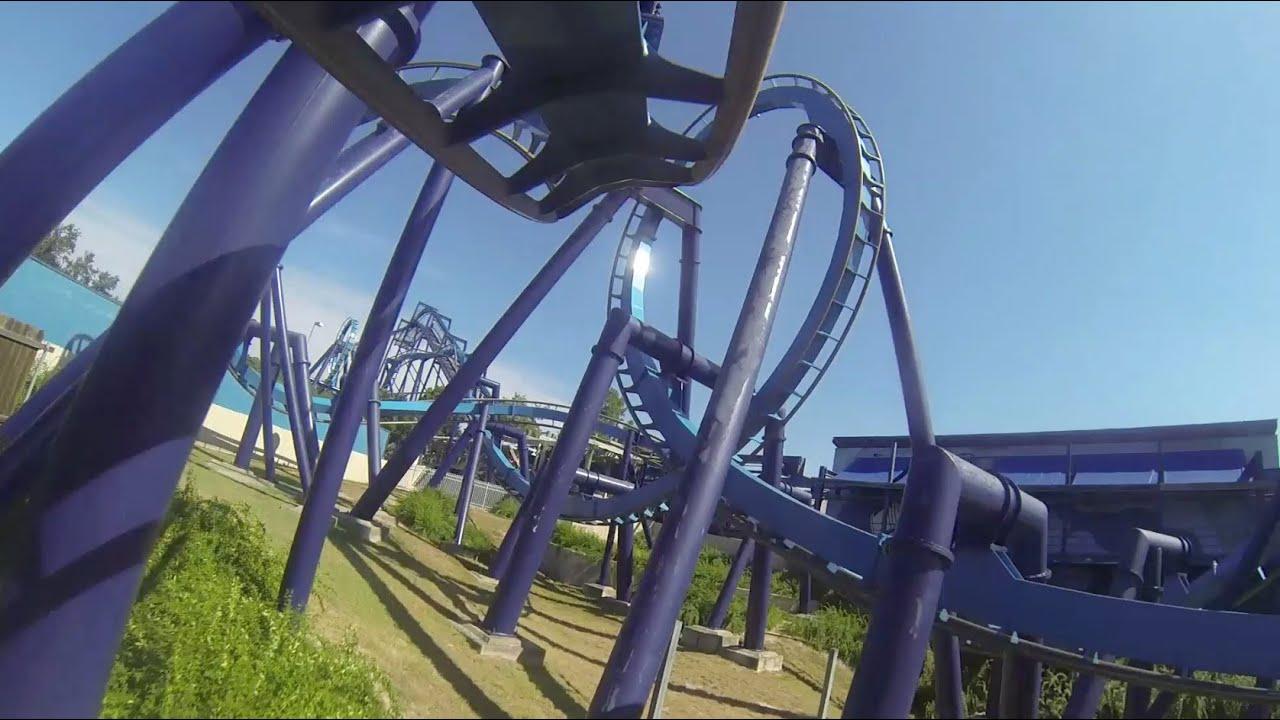 great white roller coaster pov seaworld san antonio texas
