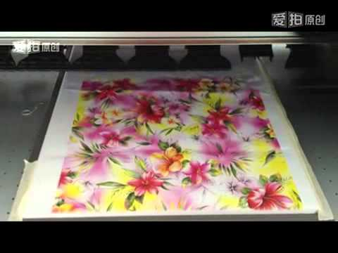 Textile Digital Printing Machine Youtube