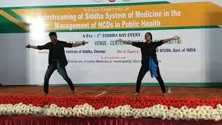 Ravi varman and Punitha Shalini  Sidhha day dance perfomance