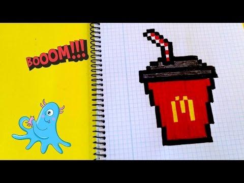 Draw Handmade Pixel Art Como Dibujar Coca Cola