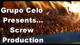 CELO Screw Production. CELO has screw factories in Spain, China and USA