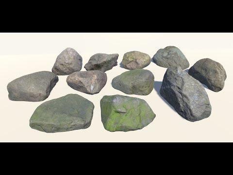 Creating Rocks in Autodesk Maya 2017 using rockGen Script | Maya Modelling Tutorials