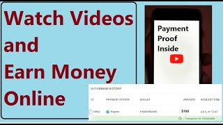 Watch Videos and Earn Money | Live Payment Withdrawal