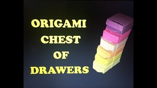 Origami Chest of Drawers Part 1 I ARTist Diana