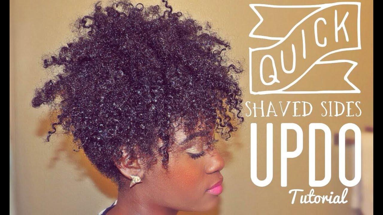 imitation shave sides updo tutorial